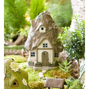 Miniature Round Garden Solar Fairy Garden by Plow & Hearth