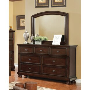 Alcott Hill Holtzman 7 Drawer Dresser with M..