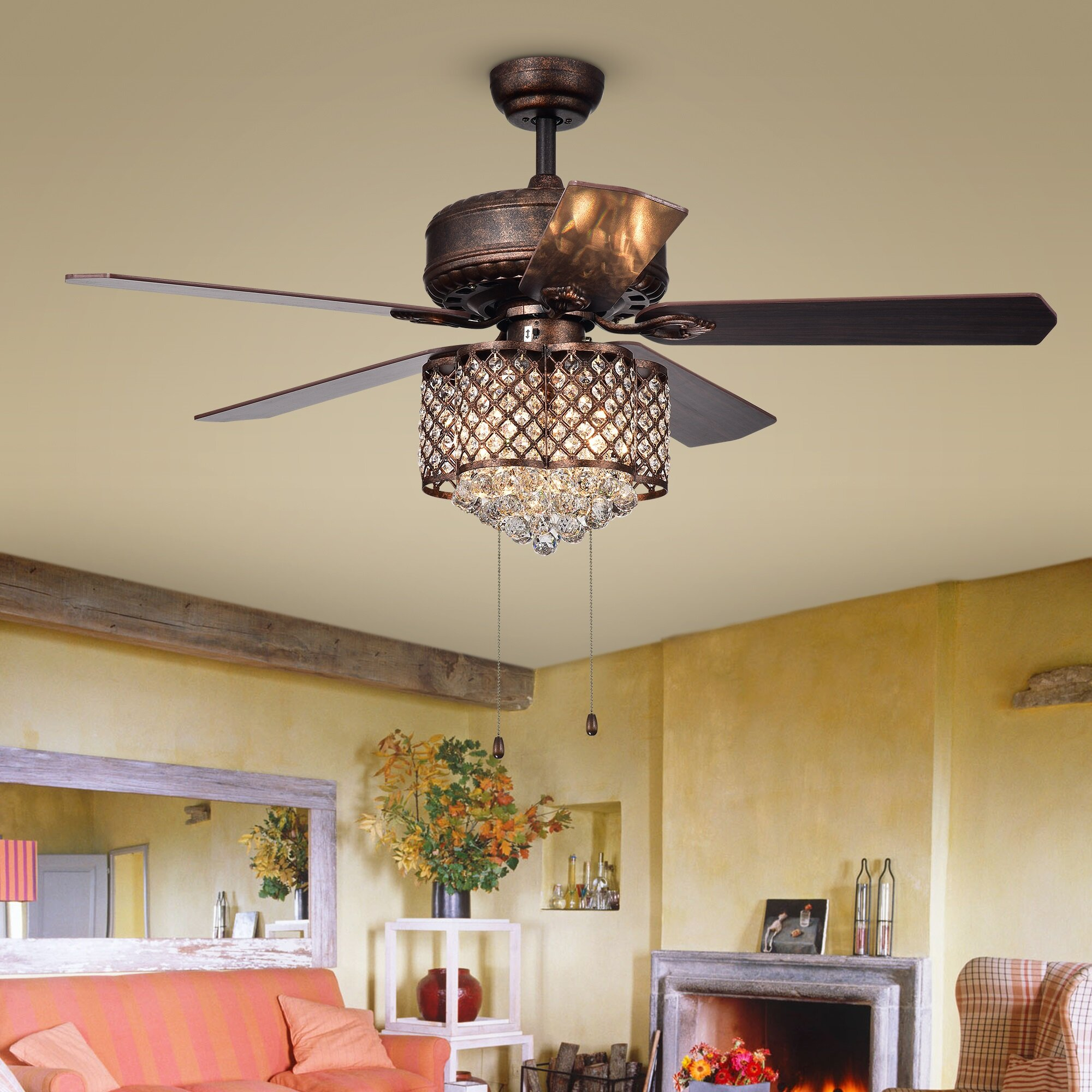 House Of Hampton 52 Colleton 5 Blade Ceiling Fan Wayfair Ca