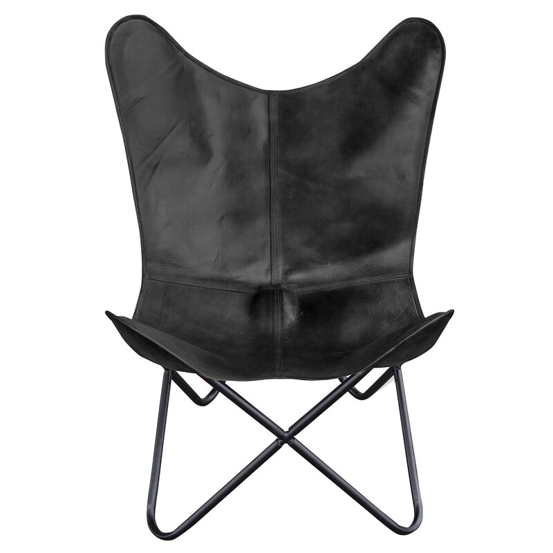 Zetta Natural Leather Butterfly Chair