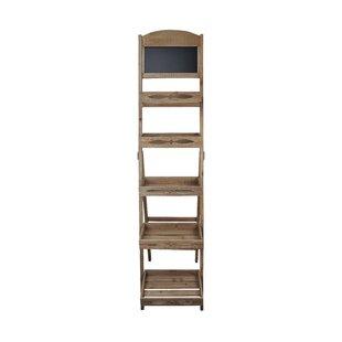 5 Tier Folding Shelf Storage With Chalkboard