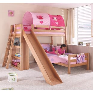 Reina European Single L-Shaped Bunk Bed With Slide By Harriet Bee