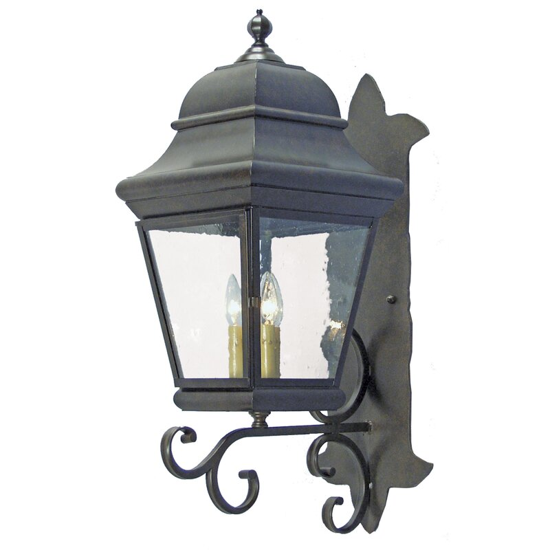 2nd Ave Design Cicero 3 Bulb Outdoor Wall Lantern Perigold
