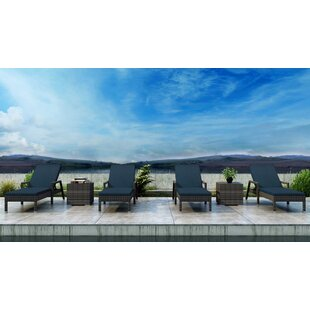 Gilleland Sun Lounger Set with Cushions and Table
