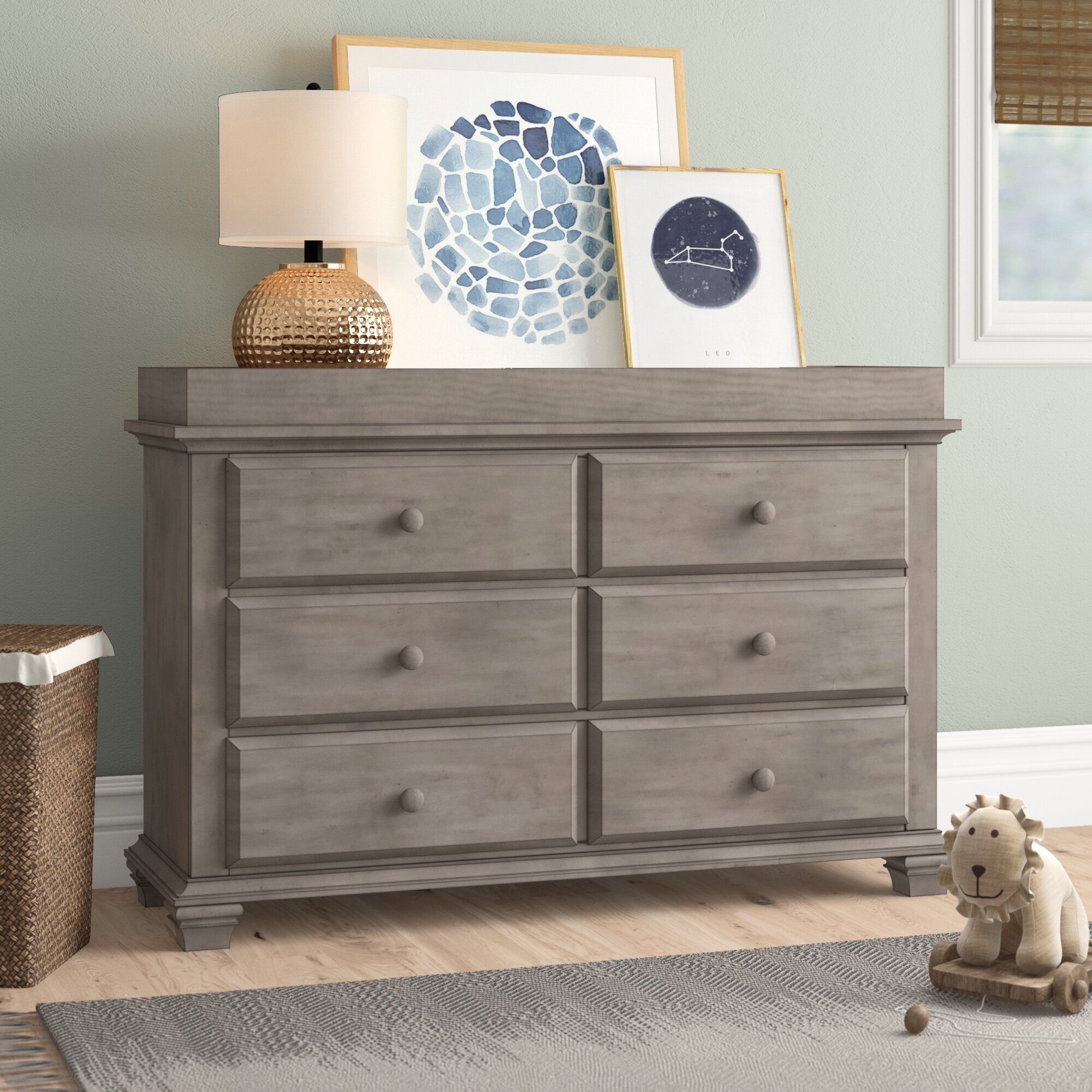 One size Fisher-Price Signature 6-Drawer Double Dresser Country Brown