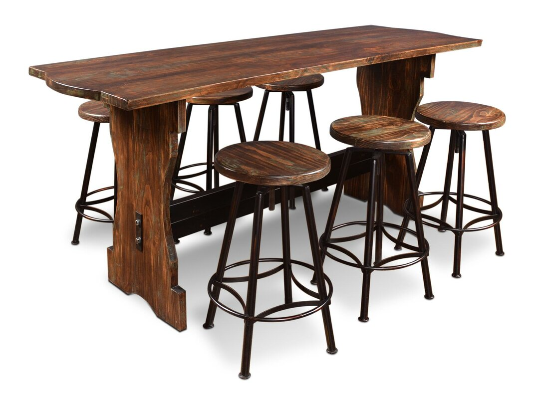 laurel foundry modern farmhouse connery 7 piece counter height pub