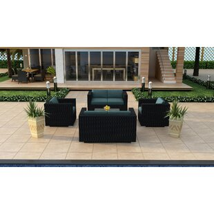 Azariah 5 Piece Double Loveseat Set with Cushions