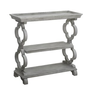 Kerra Tray Top Quatrefoil Console Table