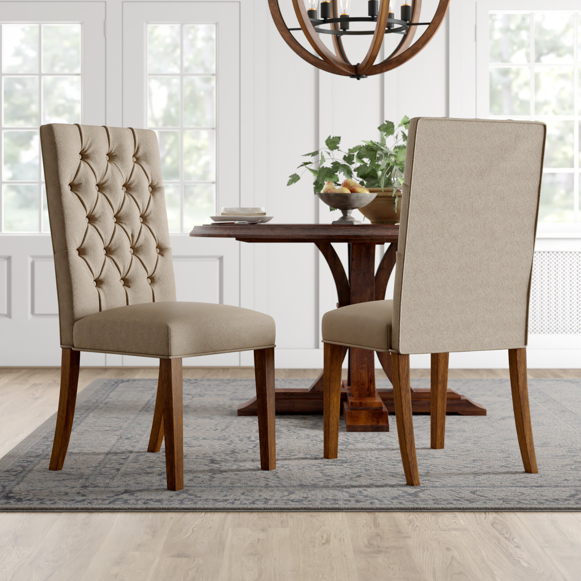Bedias Tufted Upholstered Dining Chair In Beige Reviews Birch Lane