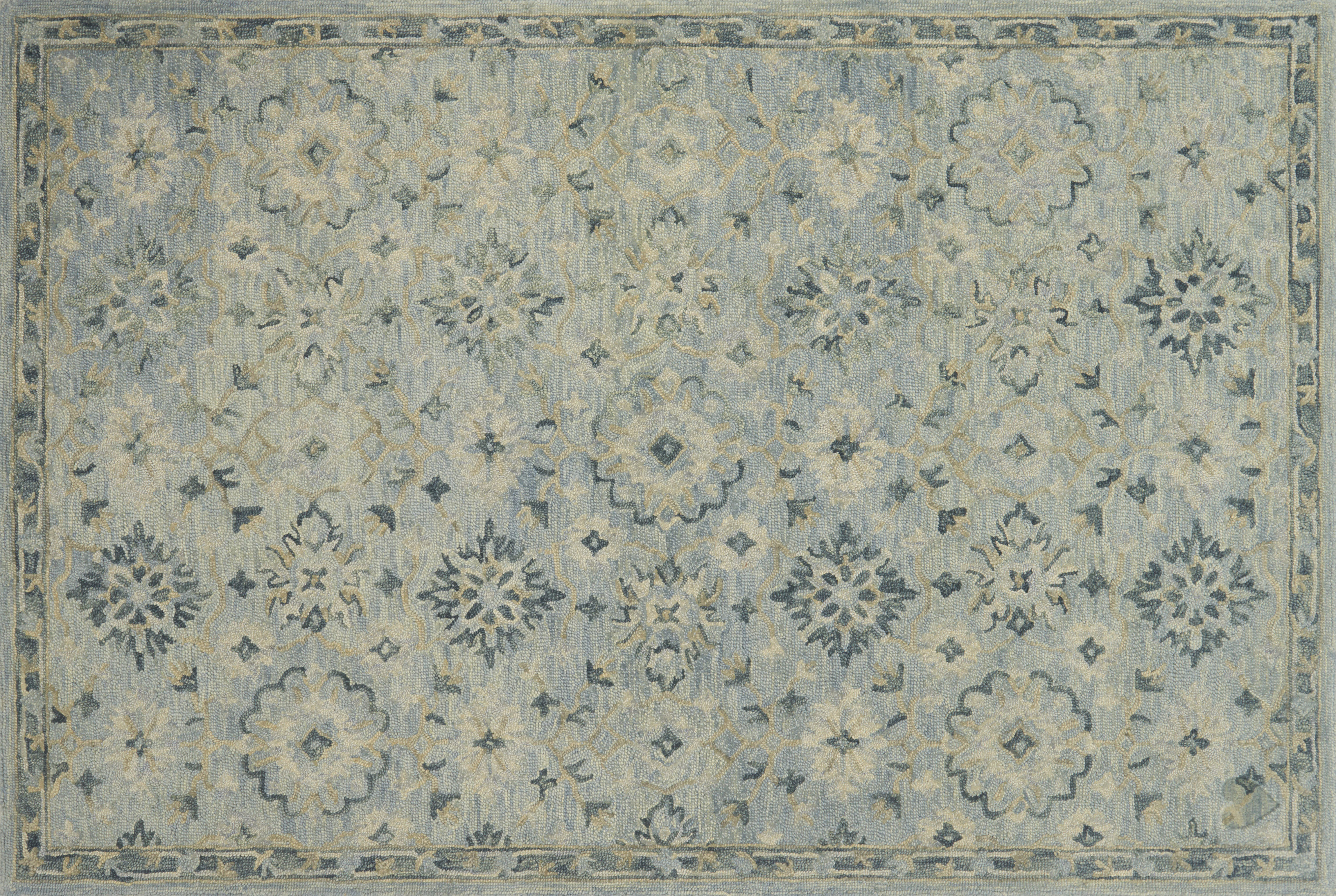 Ed Ellen Degeneres Crafted By Loloi Oriental Hand Hooked Wool Light Blue Area Rug Wayfair