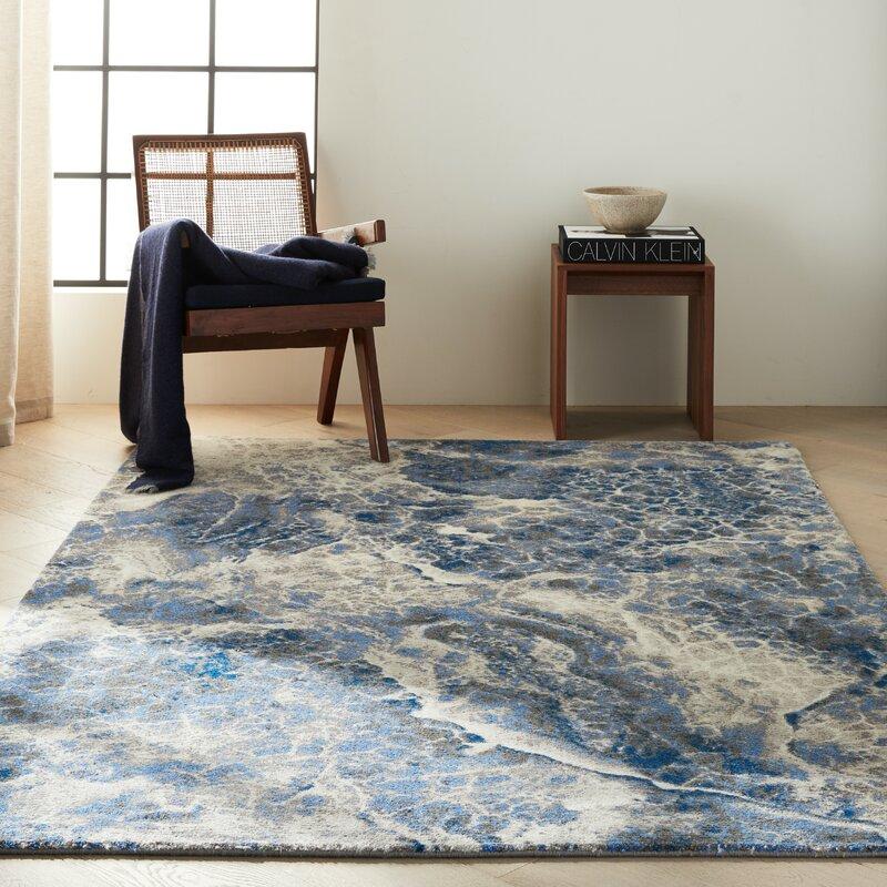 Calvin Klein Abstract Blue Area Rug Wayfair