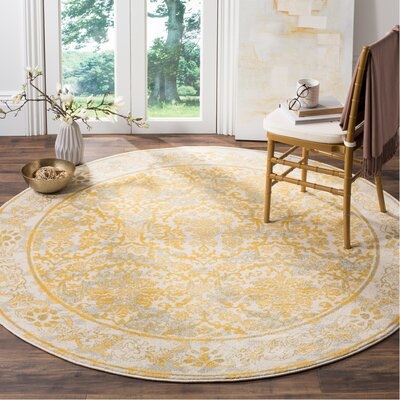 Yellow Amp Gold Round Rugs You Ll Love In 2020 Wayfair