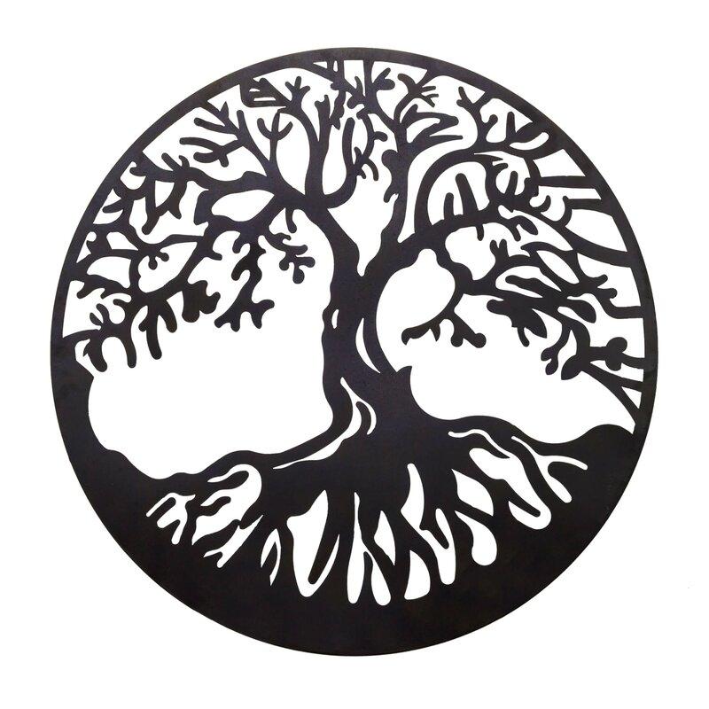 bayaccents tree of life metal wall décor reviews wayfair