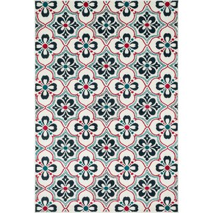 Winifred Blue/Red Indoor/Outdoor Area Rug