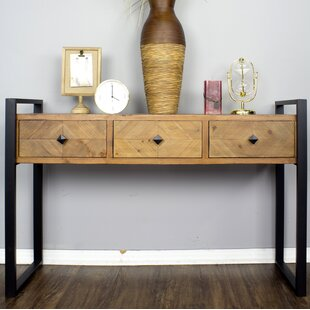 17 Stories Delphine 3 Drawer Console Table