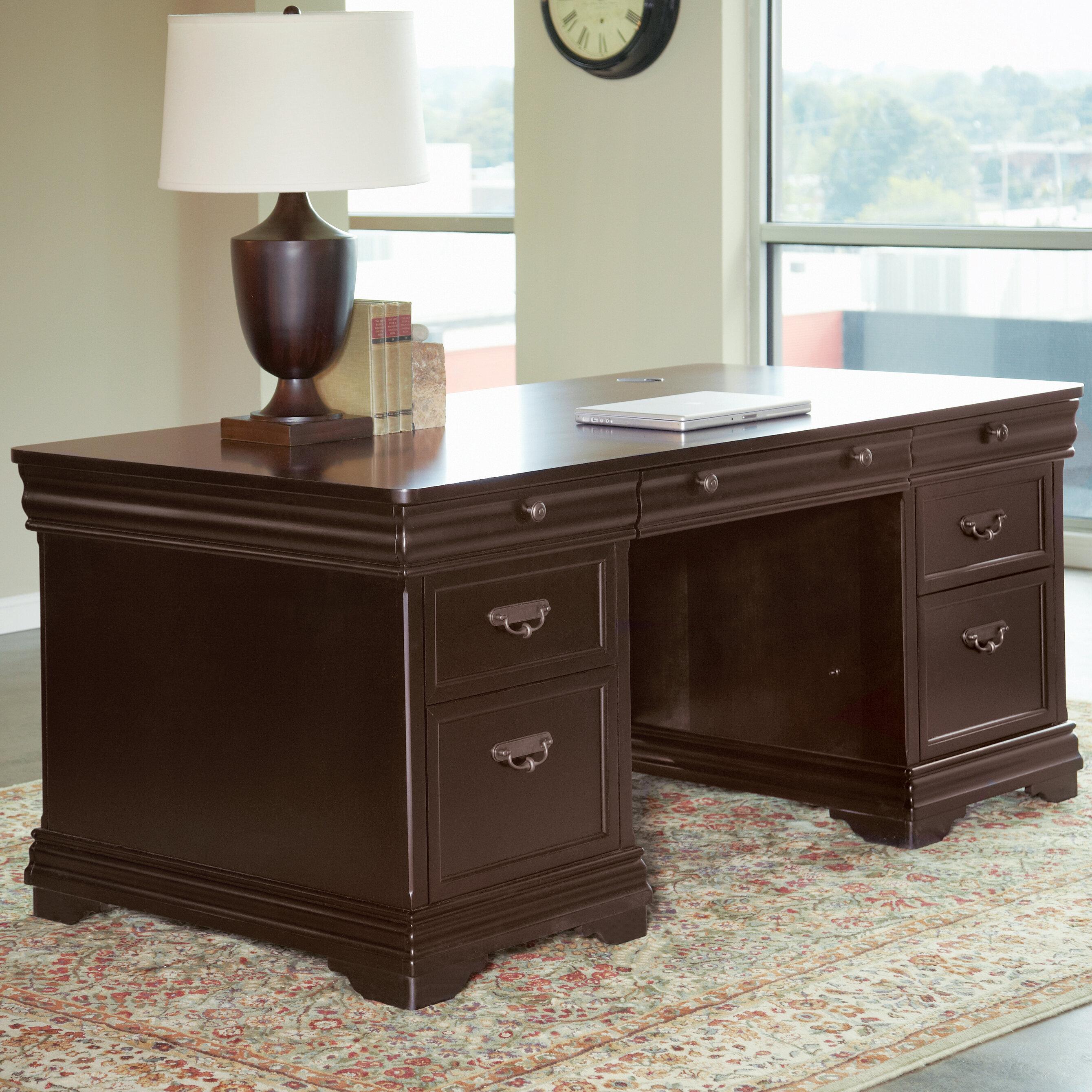 Charmant Lou Solid Wood Executive Desk