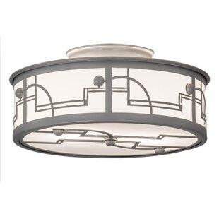 Revival Deco 2-Light Semi Flush Mount by Meyda Tiffany