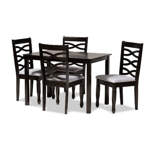 Bottoms 5 Piece Dining Set Canora Grey