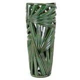 Cylinder Green Floor Vase