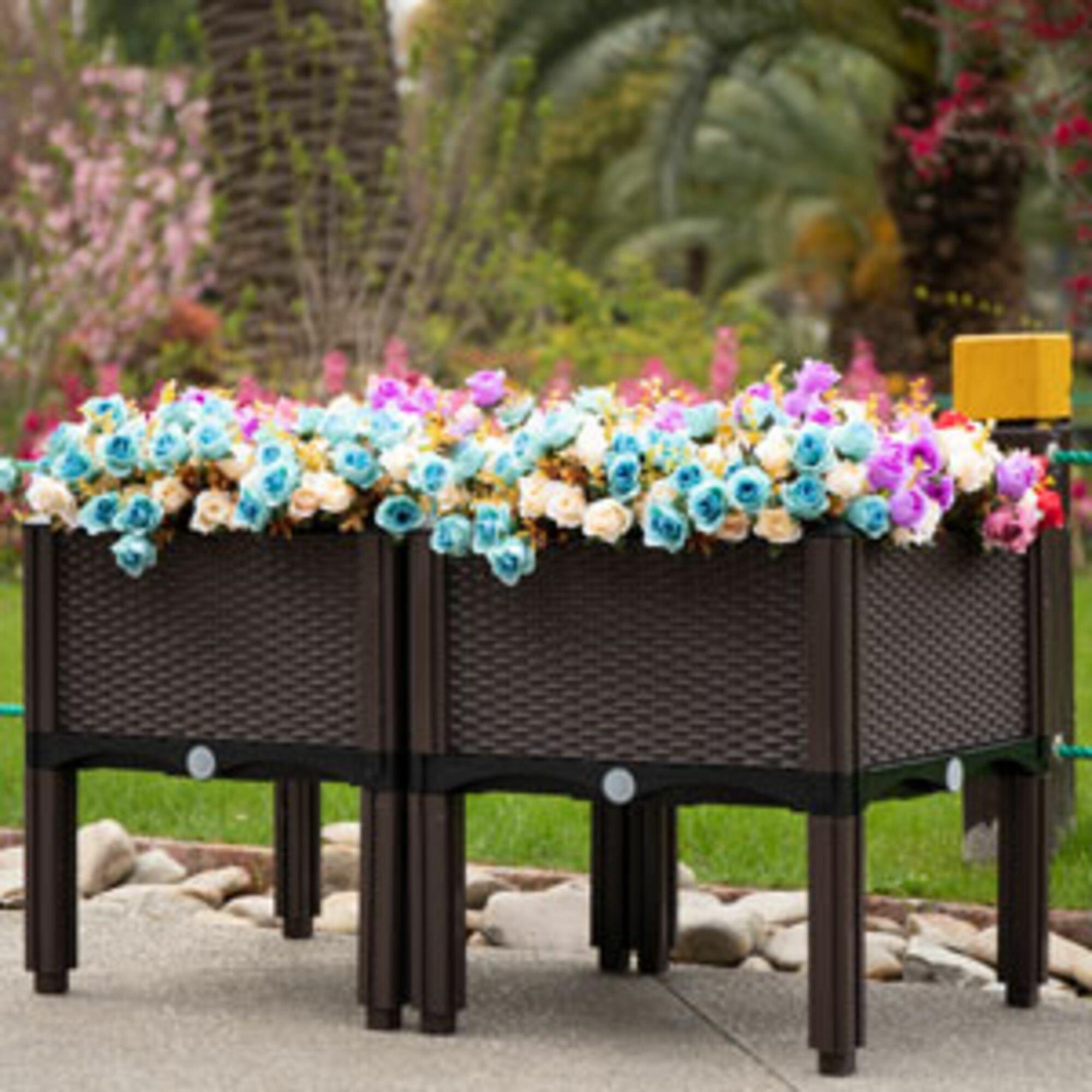 Arlmont Co Celestia Plastic Planter Box Reviews Wayfair Ca