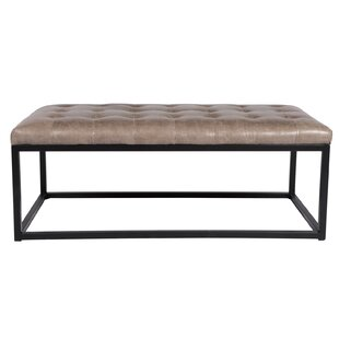 Tufted Leather Cocktail Ottoman by Joseph Allen
