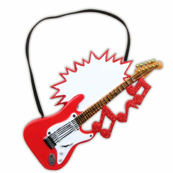 Personalized By Santa Hobbies And Activities Electric Guitar Hanging Figurine Wayfair