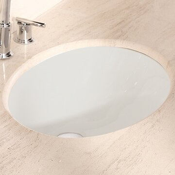 American Imaginations Ceramic Oval Undermount Bathroom Sink With Overflow