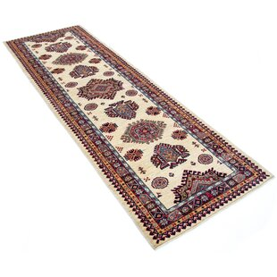Dowsett Hand Hooked Cotton Red/Beige Rug by Rosalind Wheeler