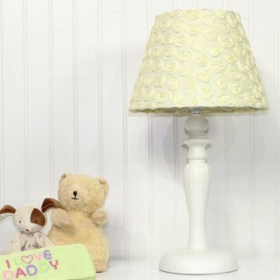 Best Reviews Butterfly Garden Yellow Rose 15 Table Lamp By Nurture Imagination
