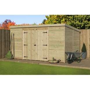 Review 14 Ft. W X 7 Ft. D Shiplap Pent Wooden Shed