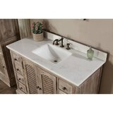 Clemmie 49 Single Bathroom Vanity Set with Mirror by Laurel Foundry Modern Farmhouse