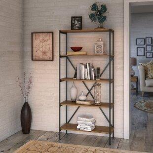 Ironworks 5 Shelf Etagere Bookcase by Kathy Ireland Office by Bush