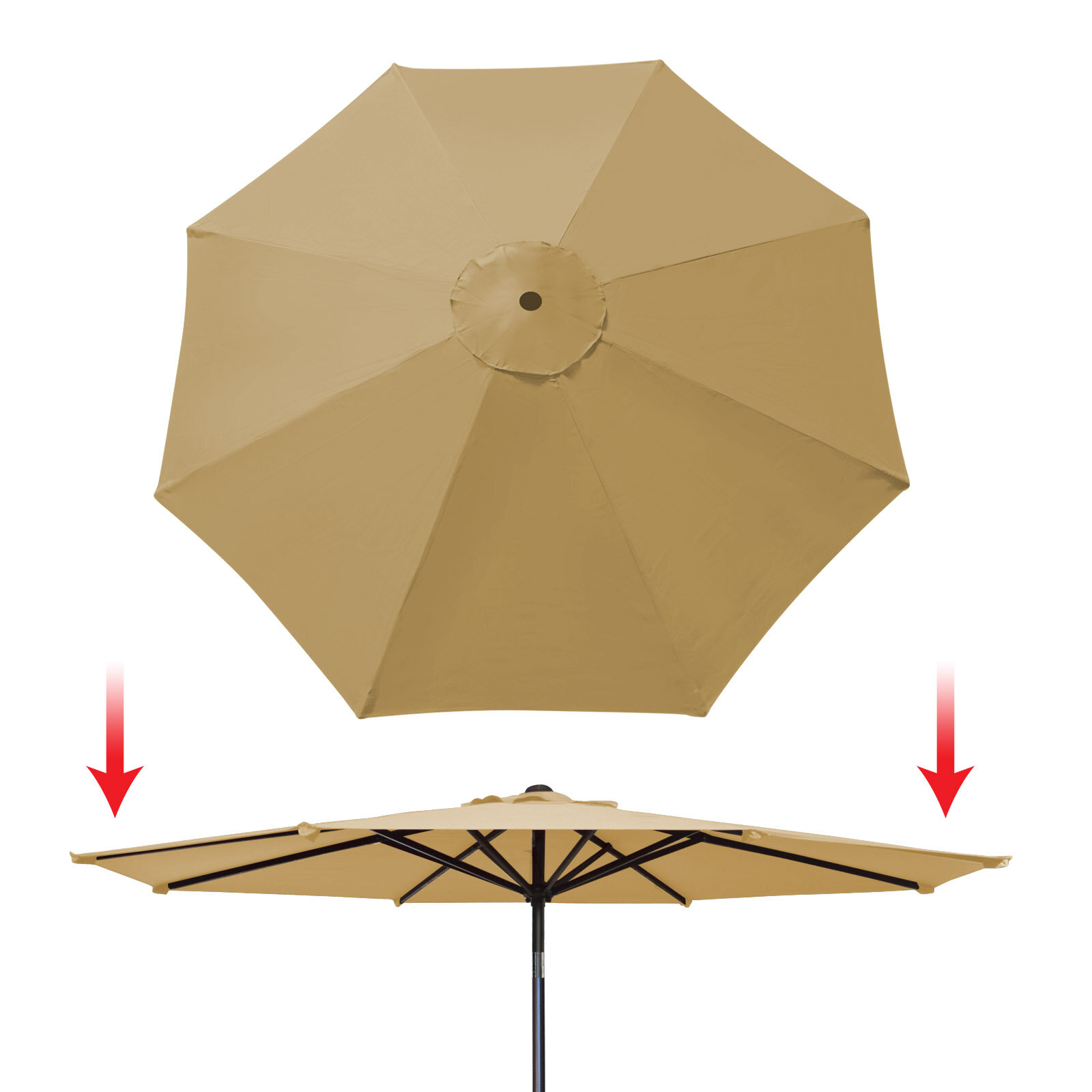 Tierra Patio Umbrella Replacement Cover