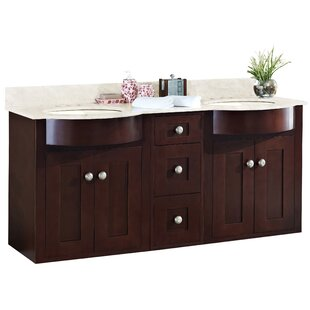 Review Kester 60 Wood Double Bathroom Vanity Set by Darby Home Co