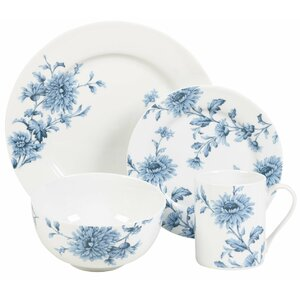 Denim 16 Piece Dinnerware Set