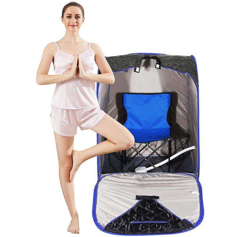 Homdox Single Person Portable Steam Sauna with Remote Control