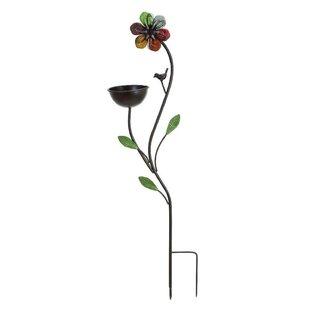 ORE Furniture Floral Decorative Tray Bird Feeder