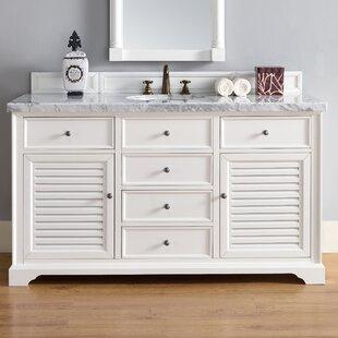 Osmond 60 Single Ceramic Sink Cottage White Bathroom Vanity Set by Greyleigh