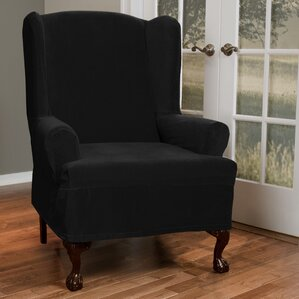 T Cushion Wing Chair Slipcover