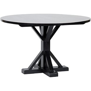 Criss-Cross Round Dining Table Noir