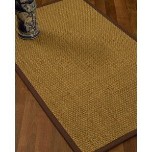 Rosabel Border Hand-Woven Beige/Brown Area Rug by Darby Home Co