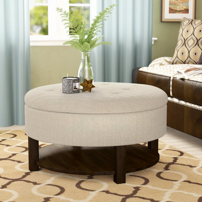 Pleasant Darell Tufted Storage Ottoman Ncnpc Chair Design For Home Ncnpcorg