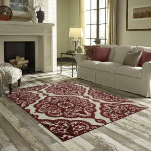 Living Room Red Rug red rugs | wayfair