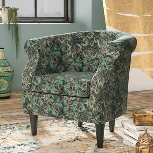Bloomsbury Market Ronda Animal Print Barrel Chair