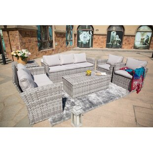 Murry 6-Piece Sofa Seating group with Luxury Cushions Lounge Set