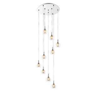 Dayton 9-Light Cluster Pendant by George Oliver