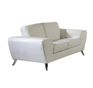 Alonso Leather Loveseat by Wade Logan SKU:CB389997 Price Compare
