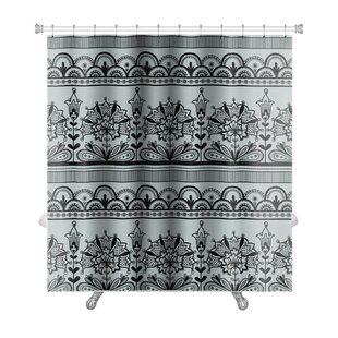 Gecko Lace Pattern Premium Single Shower Curtain