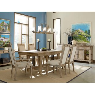 Ariel 7 Piece Extendable Solid Wood Dining Set