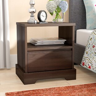 Reviews Crosby 1 Drawer Nightstand by Charlton Home